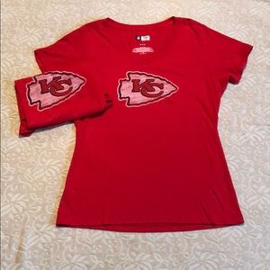 Two Kansas City Chiefs T-shirts